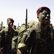 Brazilian Paratroopers on Exercise.